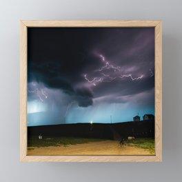 Ocean of Lightning Framed Mini Art Print