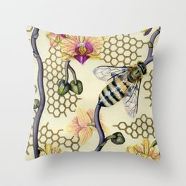 In Her Garden Throw Pillow