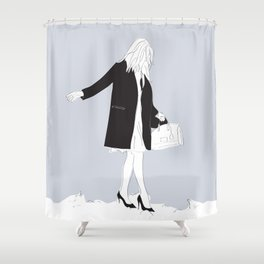 Winter Fashion Girl in the Snow Shower Curtain