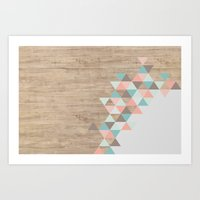 triangle Art Prints featuring Archiwoo by Marta Li