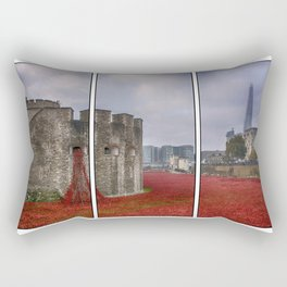 Blood Swept Lands Tryptych Rectangular Pillow