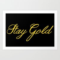 stay gold Art Prints featuring Stay Gold by bitobots