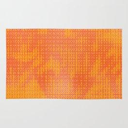 Orange Spirograph Rug