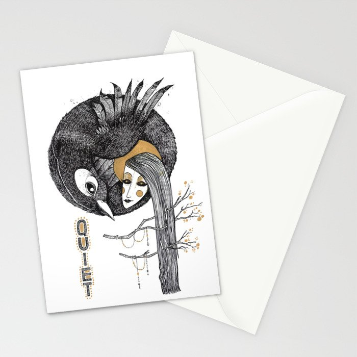 BIRD WOMEN 4 Stationery Cards