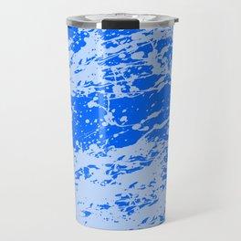 Blue Distressed Splatter Travel Mug