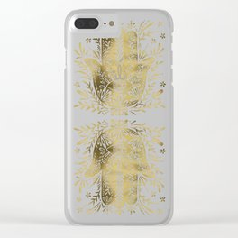 Hamsa Hand – Gold Palette Clear iPhone Case