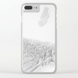 Unknown Pleasures Inspired Clear iPhone Case