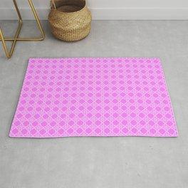 Cane Rattan Lattice in Hot Pink Rug