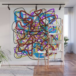 Rainbow Energy Abstract Digital Painting Wall Mural