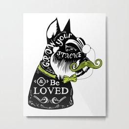 Schnauzer Stache Metal Print