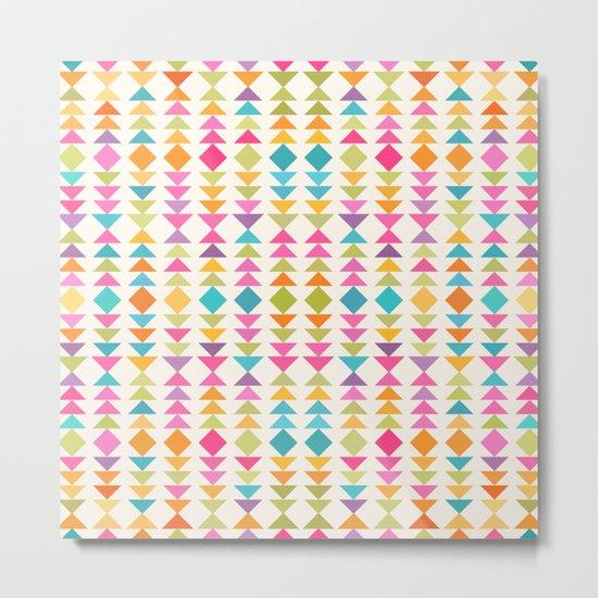 Lovely geometric Pattern VVIII Metal Print