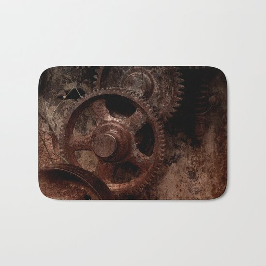 Gear mechanism shady Bath Mat