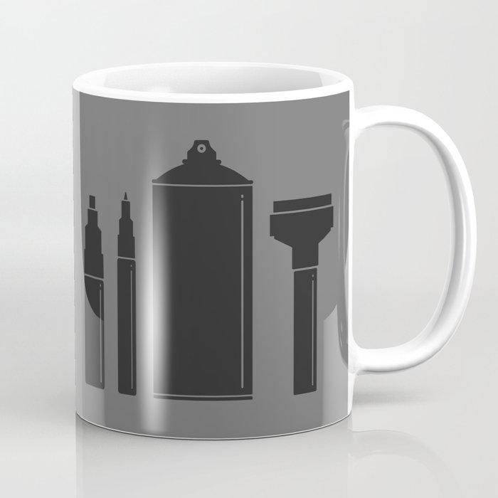 Art Supplies Grey Coffee Mug