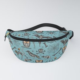 Halloween X-Ray Blue Fanny Pack