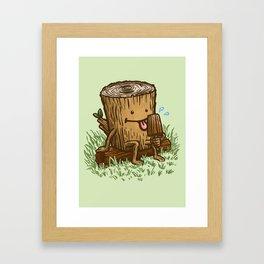 The Popsicle Log Framed Art Print