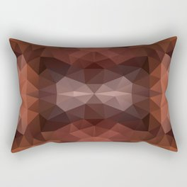 Mozaic design in dark brown colors Rectangular Pillow