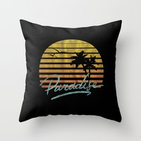 paradise Throw Pillows featuring Paradise by Anthony Troester