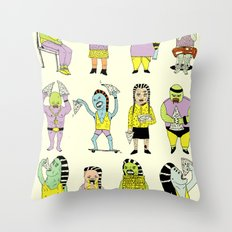 KIDS AND PIZZA Throw Pillow
