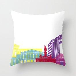 Nicosia skyline pop Throw Pillow