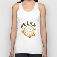 relax Tank Tops featuring Relax by Vaughn Fender