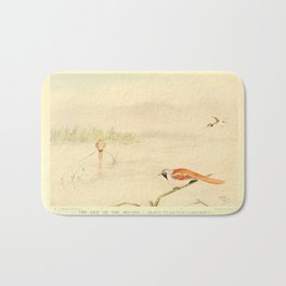 E C Arnold - A Bird Collector's Medley (1907): The Gem of the Broads (Great Crested Grebe) Bath Mat
