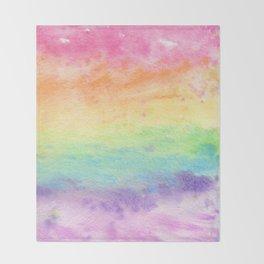 Watercolor Rainbow Wash Throw Blanket