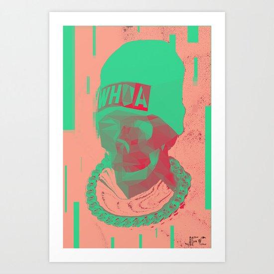 SKULL CAP Art Print