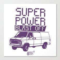 Super Power Blast Off Canvas Print