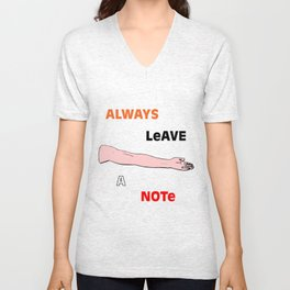 Always Leave A Note Unisex V-Neck