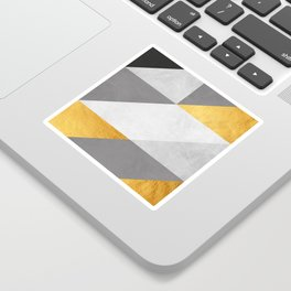 Gray and gold texture II Sticker