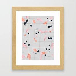 feeling peachy Framed Art Print
