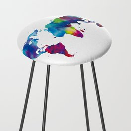World Map - Colorful Counter Stool