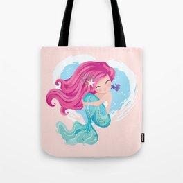 Cute mermaid illustration Tote Bag