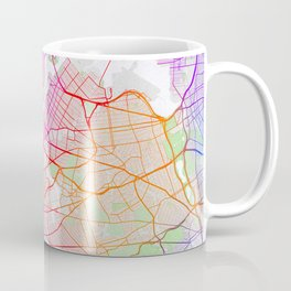 New York City Map of the United States - Colorful Coffee Mug