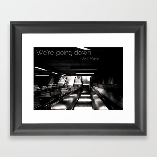Going Down Framed Art Print