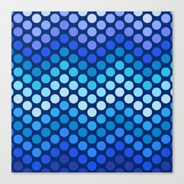 Dot Chevron: Blue violet Canvas Print