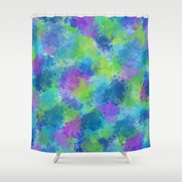 Hydrangeas Abstract Shower Curtain