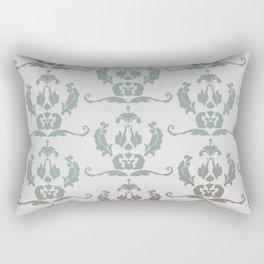 Damask Print Rectangular Pillow