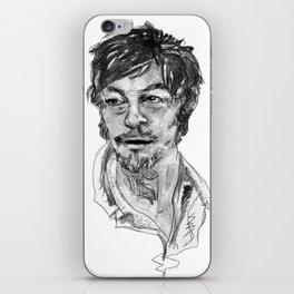 Norman Reedus in Black and White iPhone Skin