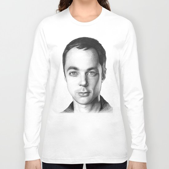 Sheldon Cooper BBT Portrait Long Sleeve T-shirt