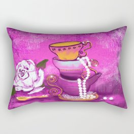 Cups and Pearls Rectangular Pillow