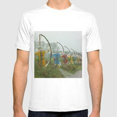 Archers, Agincourt, France MEDIUM White Mens Fitted Tee