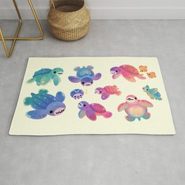Sea turtle - bright Rug