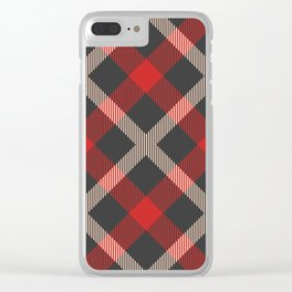 Classic Tartan Clear iPhone Case