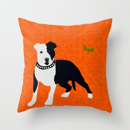 Staffordshire Bull Terrier Dog Throw Pillow