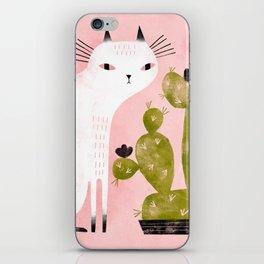 CAT & CACTUS iPhone Skin