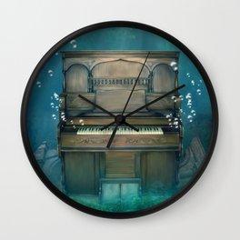 Submerged Piano Wall Clock