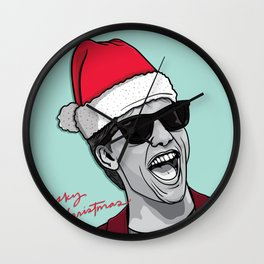 Risky Christmas Wall Clock
