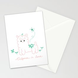 Alpaca is love Stationery Cards