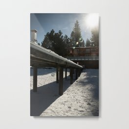 Boathouse in the Winter Metal Print